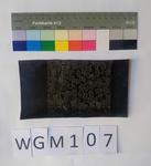 Musterabdruck schwarzer Hintergrund weißes Muster