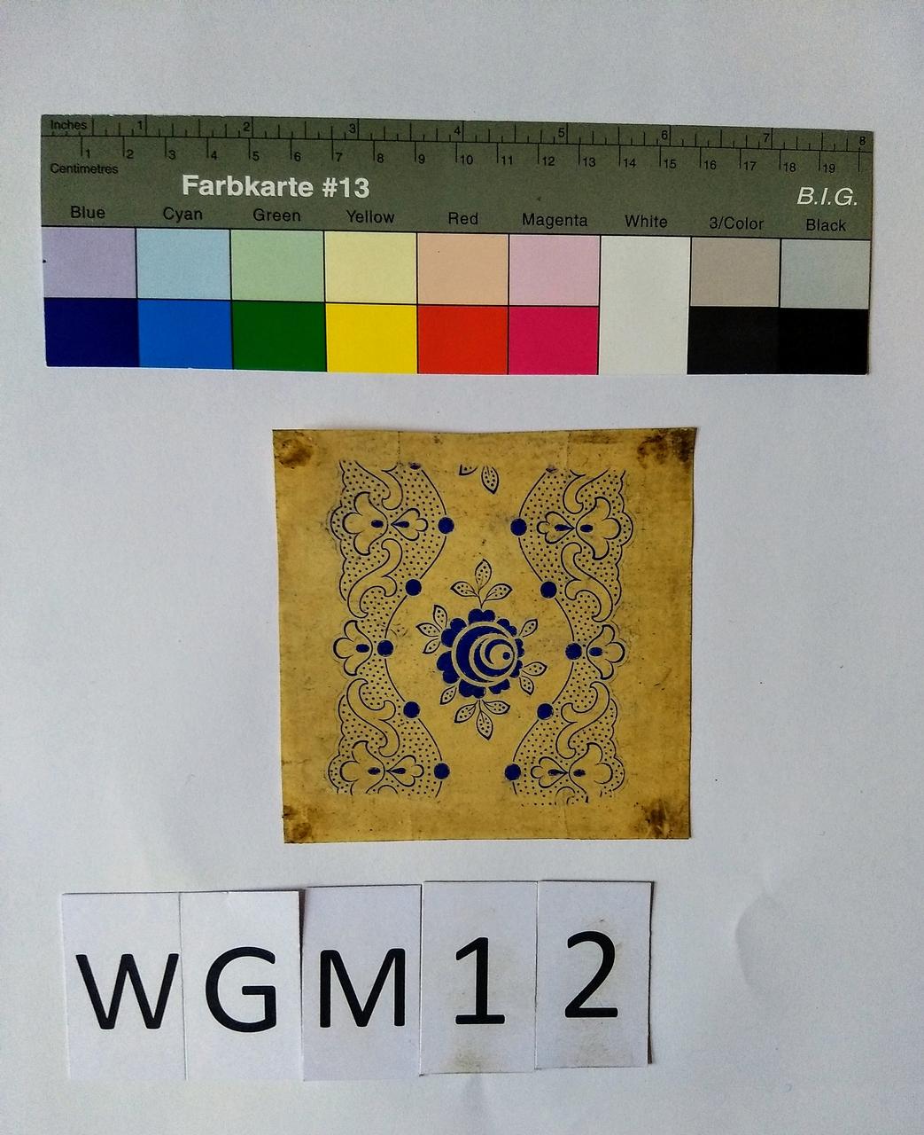 Musterabdruck florales Muster