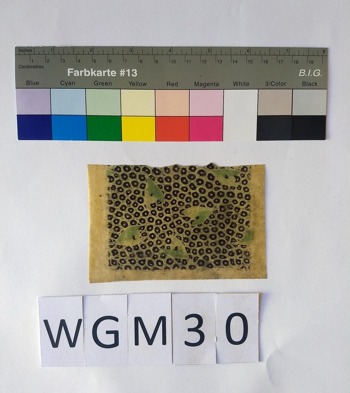 Musterabdruck Schwarz Grün