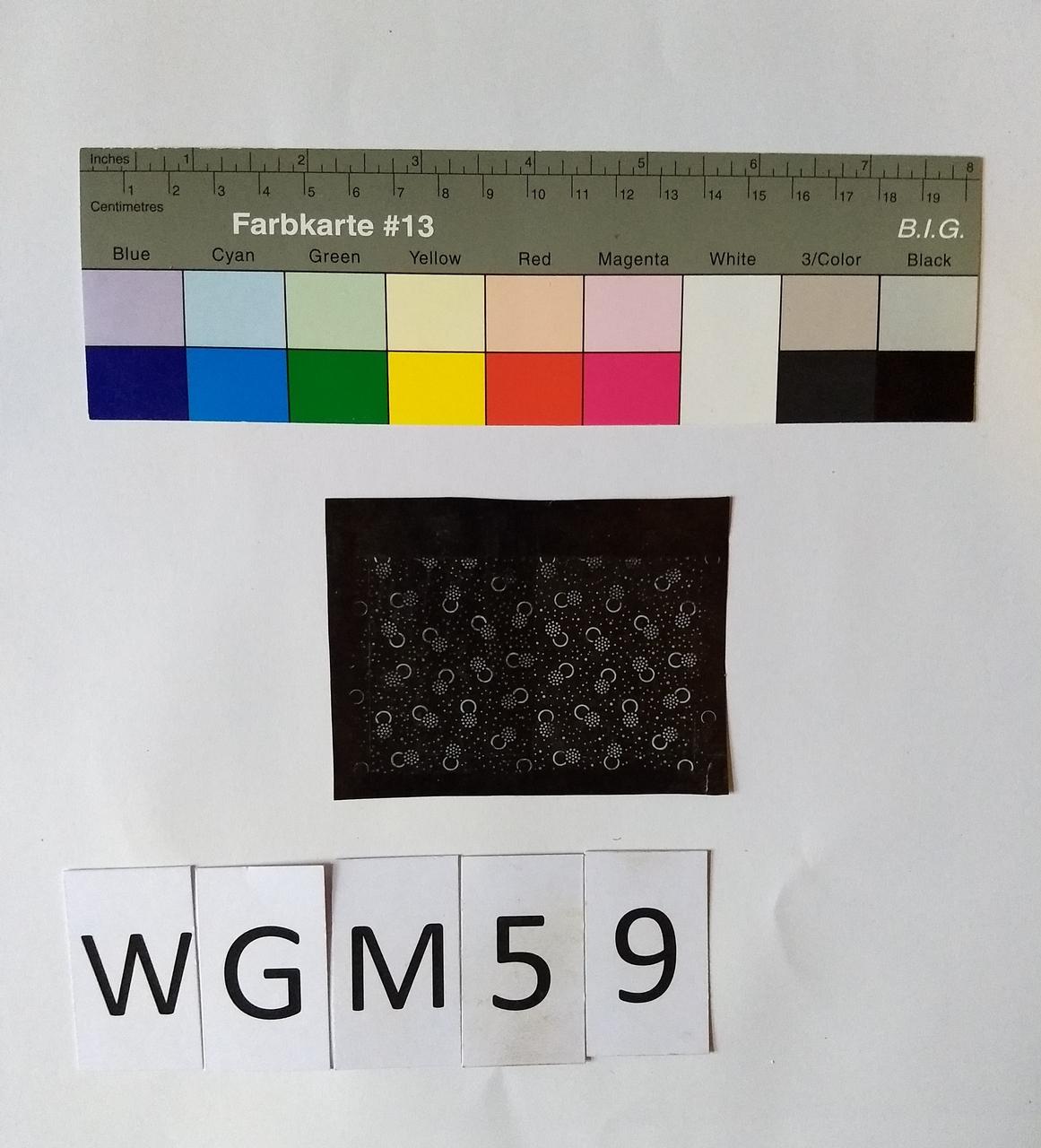 Musterabdruck Schwarz Weiß