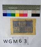 Musterabdruck geometrisch Blau