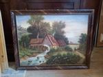 """Gemälde """"Mühle mit Wasserrad"""""""