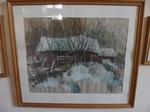 """Gemälde """"Mühle im Winter"""""""