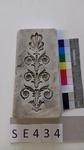 Negativform Detail Blattmotiv im Jugendstil