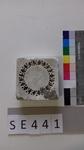 Negativform Detail Blütenkranz