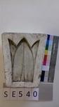 Negativform Detail Blattmotiv mit 3 oberen Spitzen