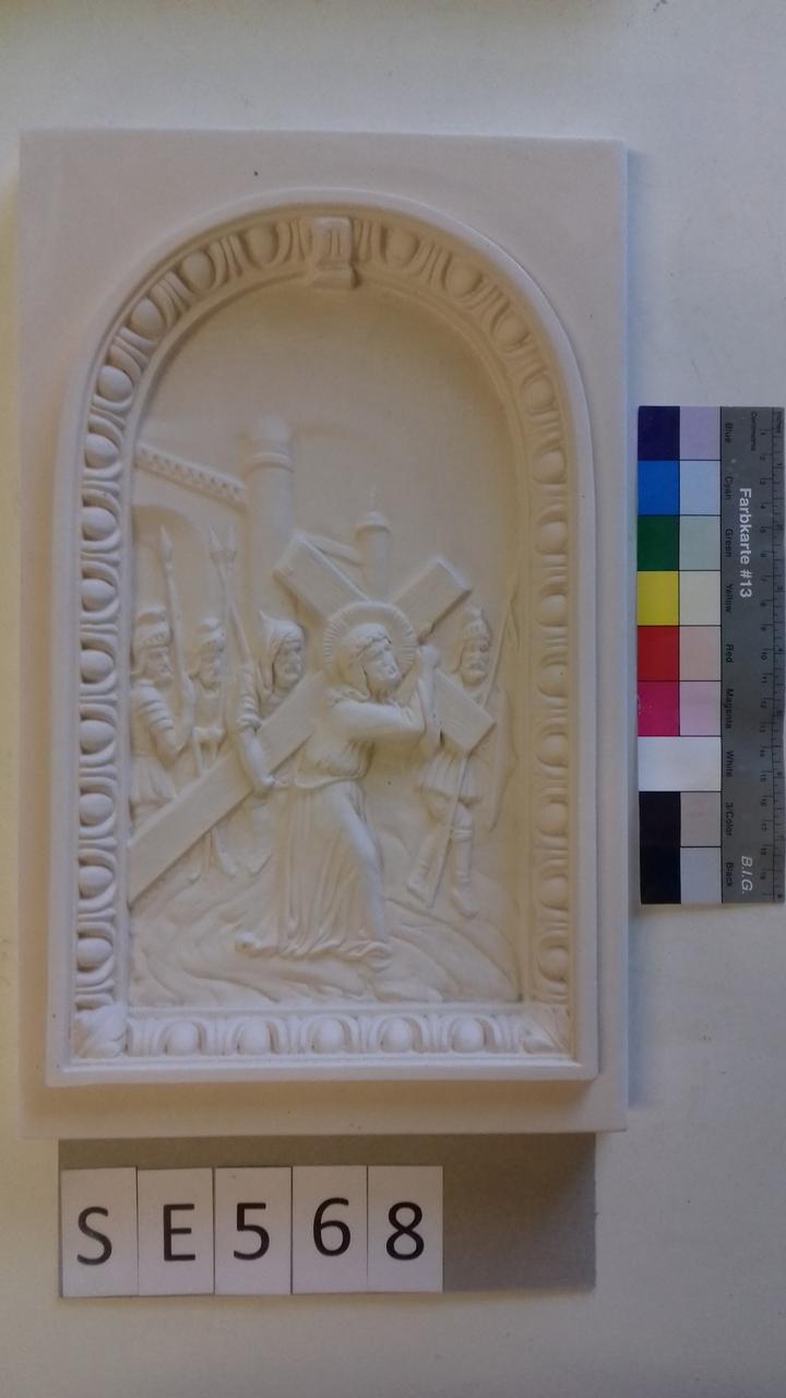 Kachel ledige Kachel Jesus mit Kreuz