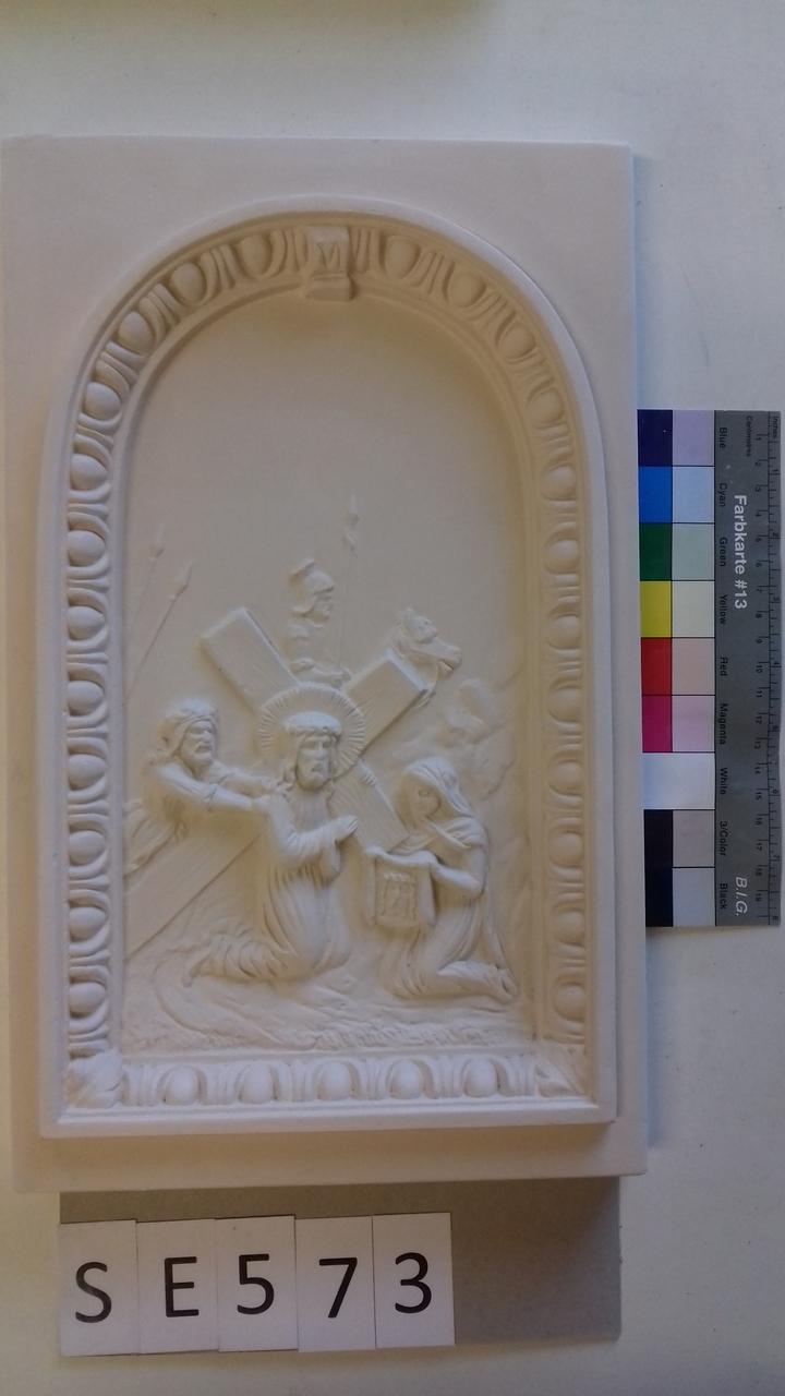 Kachel ledige Kachel Jesus mit Veronika