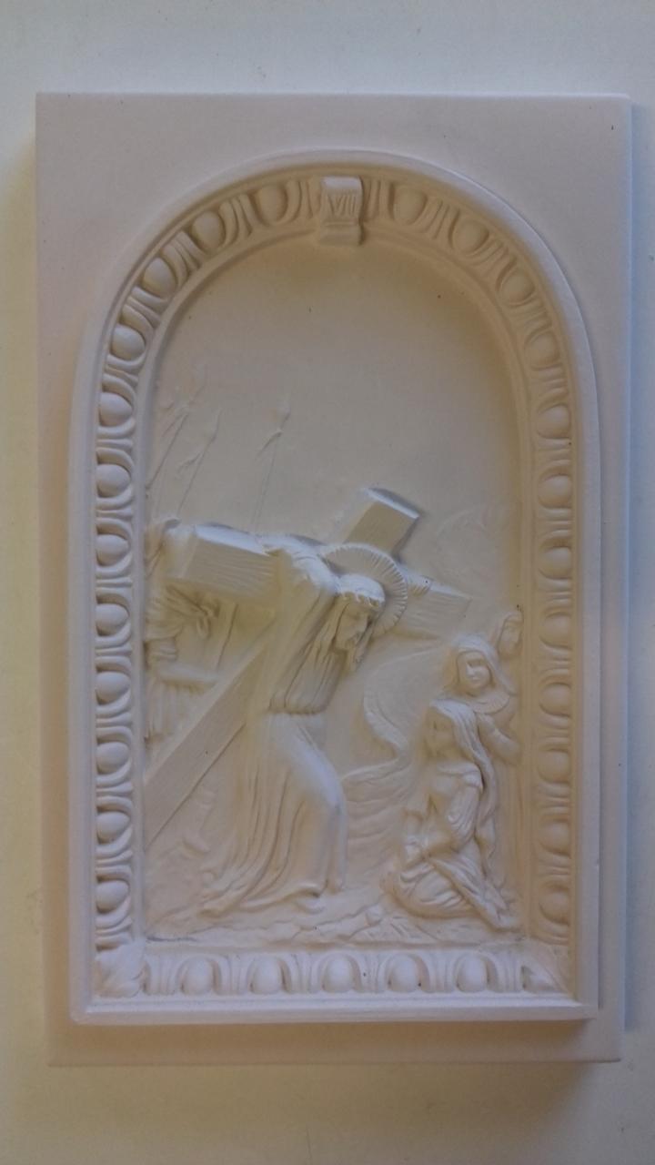 Kachel ledige Kachel Jesus und 2 kniende Frauen