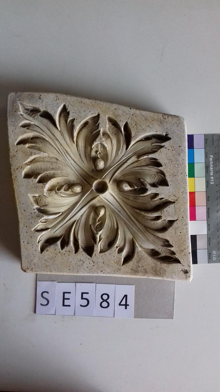 Negativform Detail Blattblume