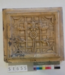 Mutterform ledige Kachel Kasettenmuster mit floralen Elementen
