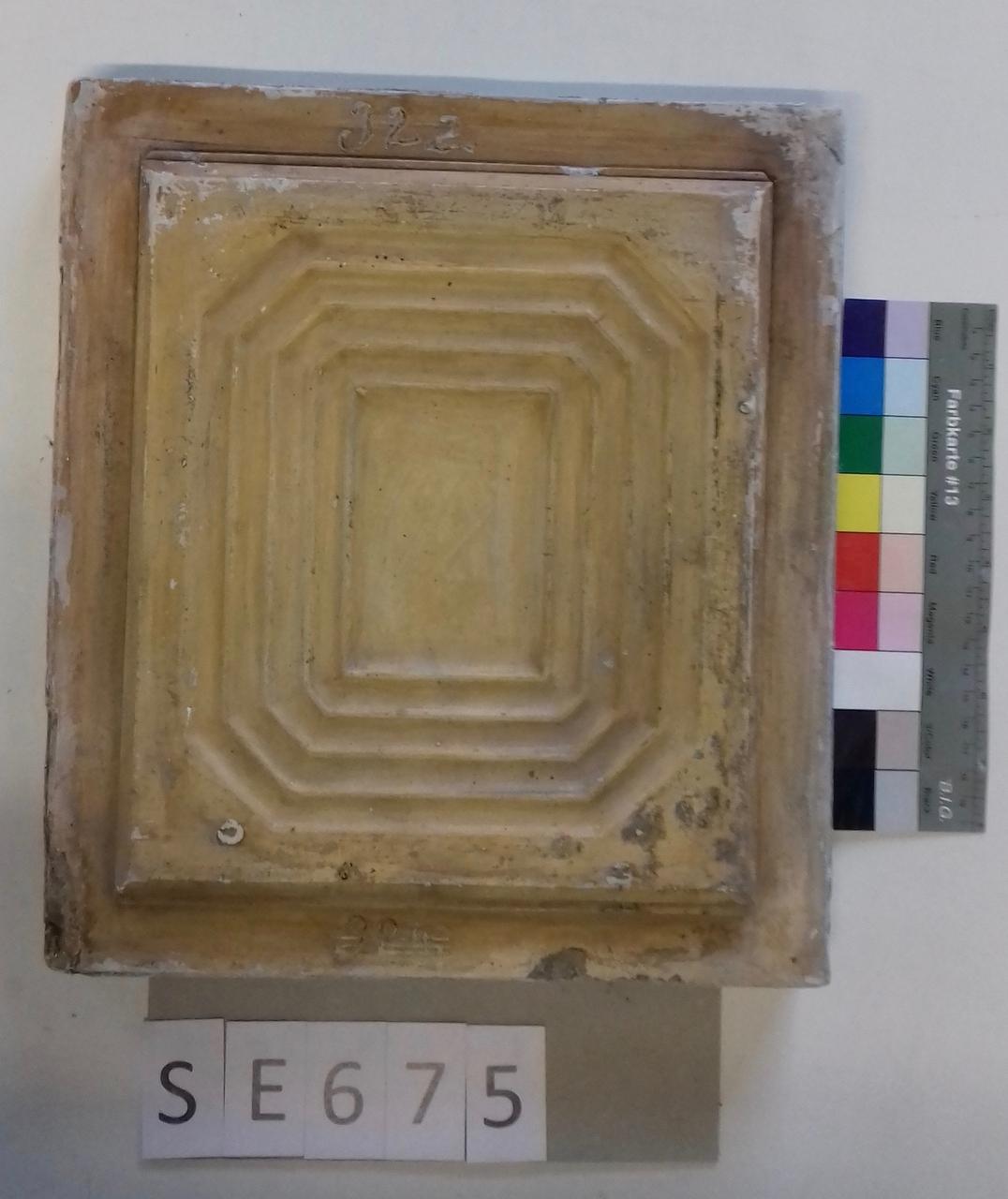 Mutterform ledige Kachel mit quadratischem Muster