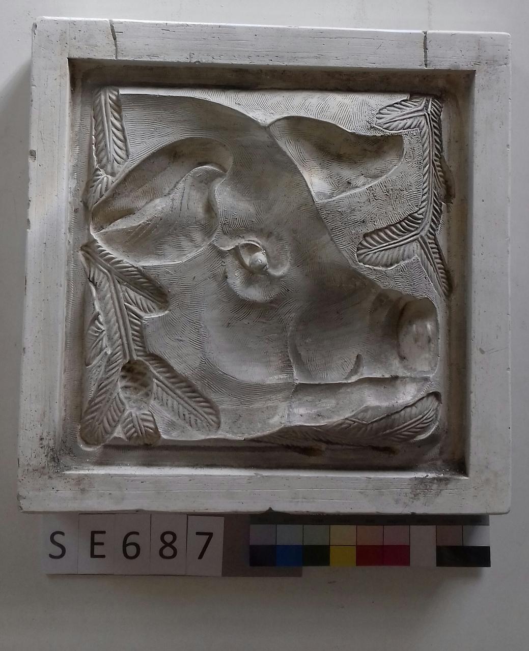 Negativteil ledige Kachel Schweinekopf