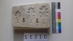 Negativform Detail Eichenblätter und Eicheln