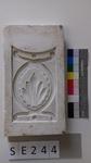 Negativform Detail Ovalform mit Blatt