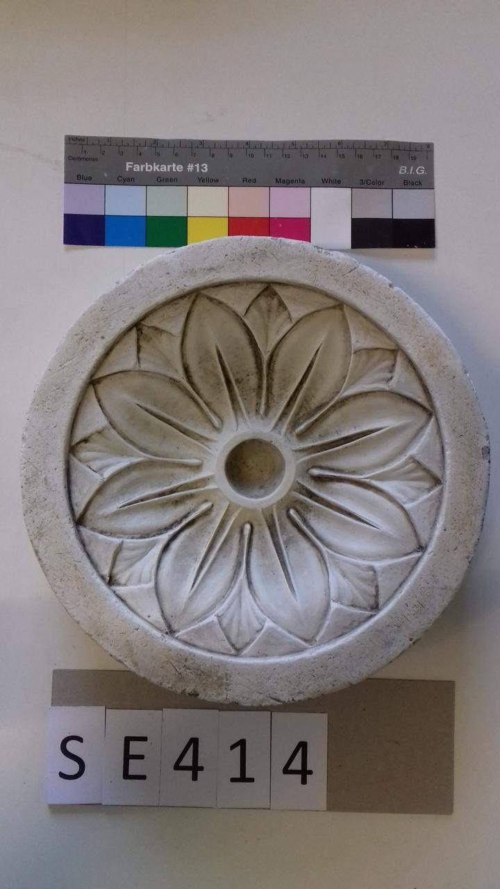 Negativform Detail runde Blüte