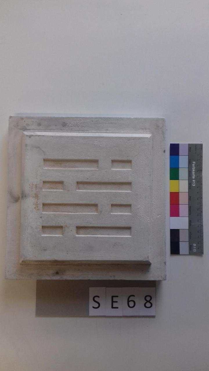 Mutterform ledige Kachel mit quadratischen Mustern