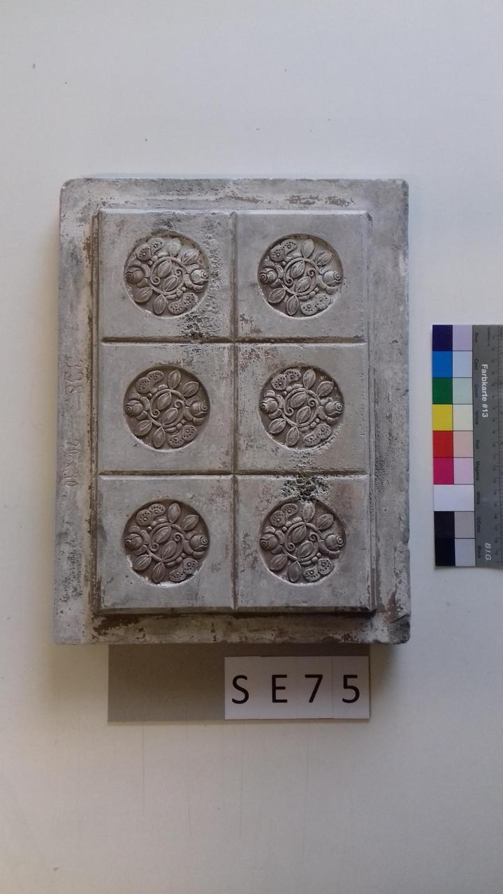 Mutterform ledige Kachel mit Rosenmotiven