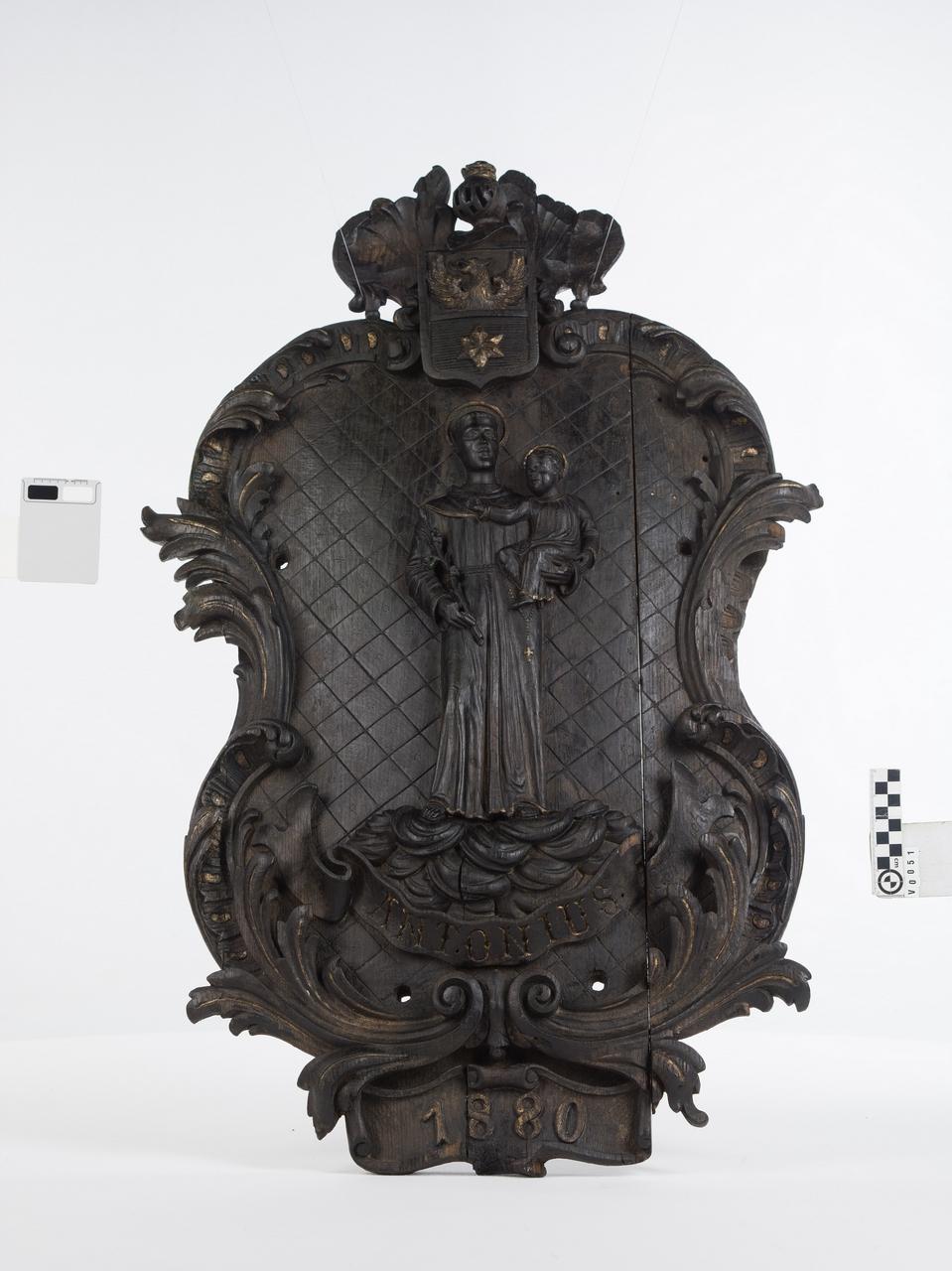 Reliéf zo suda zroku 1880, Sv. Anton - Fassboden mit Relief des Hl. Anton von 1880